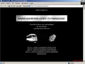 1997 Olia Lialina - Anna Karenin goes to Paradise