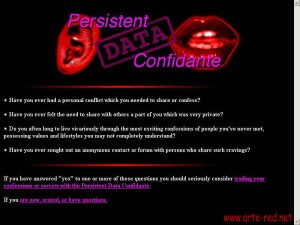 """Persistent Data Confidante"" de Paul Vanouse"