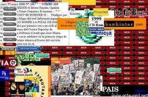 """La web www.elpais.es deconstruida en 1999 por """"Riot"""" de Mark Napier"""