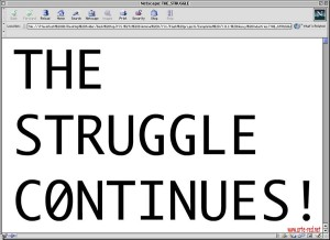 2001 Young-Hae Chang - The Struggle Continues